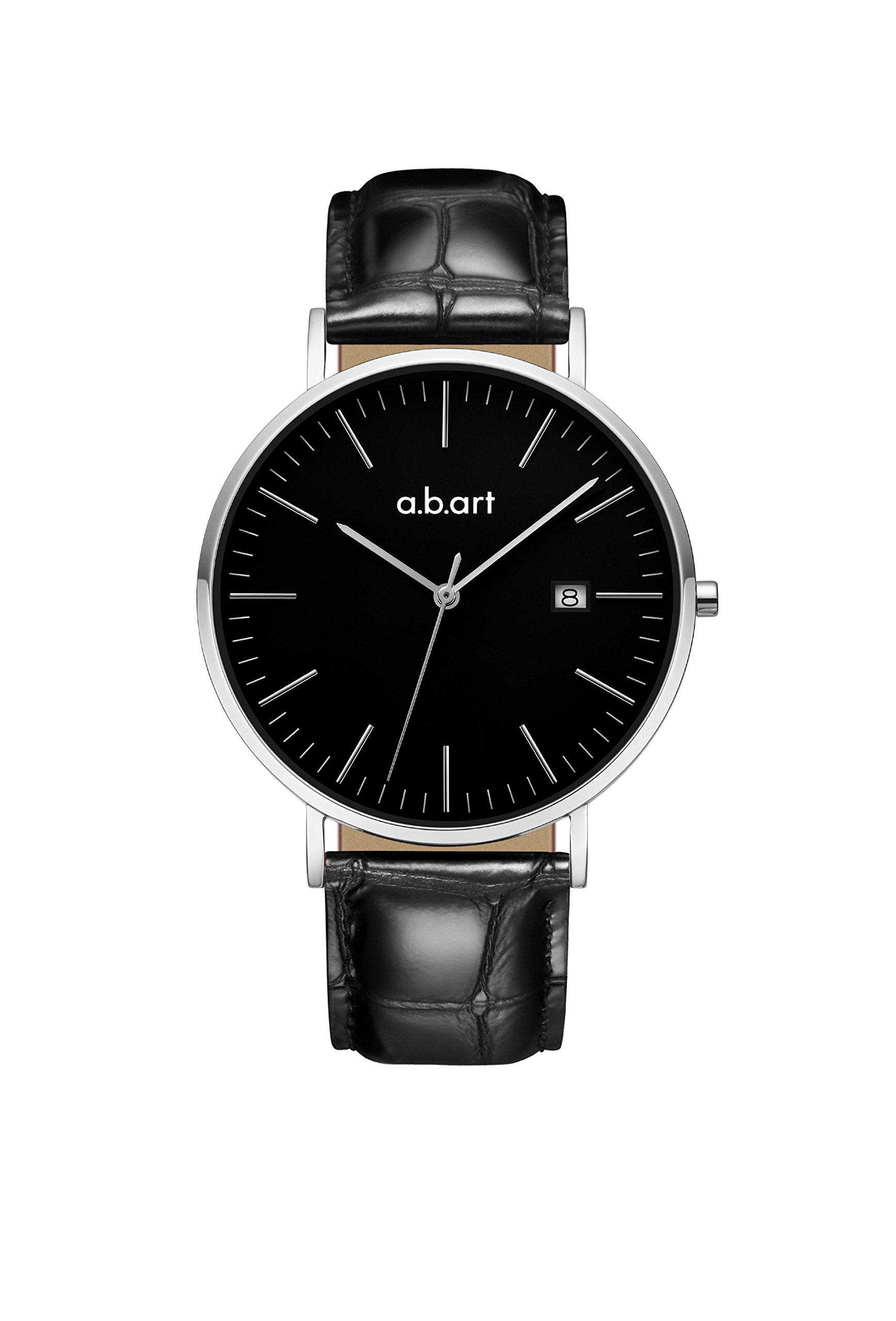 abart Wrist Watch for Men his Watches FB41 Analog Crystal Sapphire Roman Numerals Watches (Black dial Black Strap)