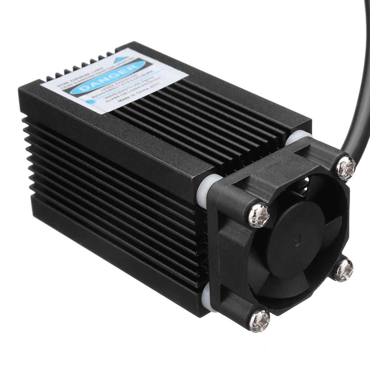 ZREAL Juego de cabezales para grabado a luz azul Violetta 12/V con madera para CR-10/cr-10s accesorios para impresoras 3d