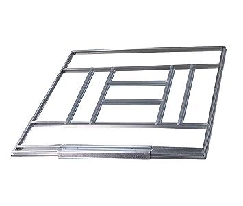 Estructura metálica Gardiun para preinstalación de suelo casetas de 7, 74 m2: Amazon.es: Jardín