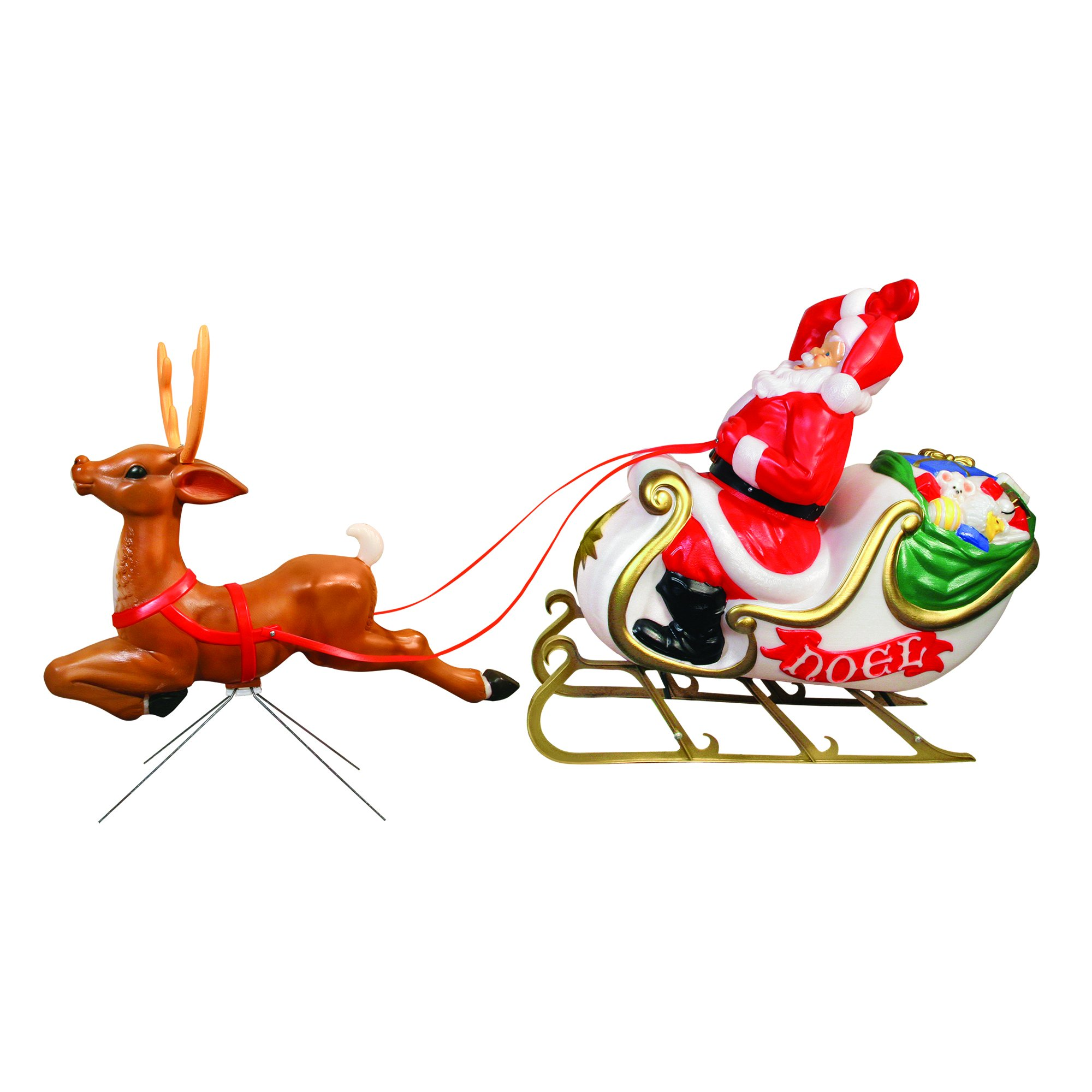 Santa with Sleigh and Reindeer by General Foam Plastics