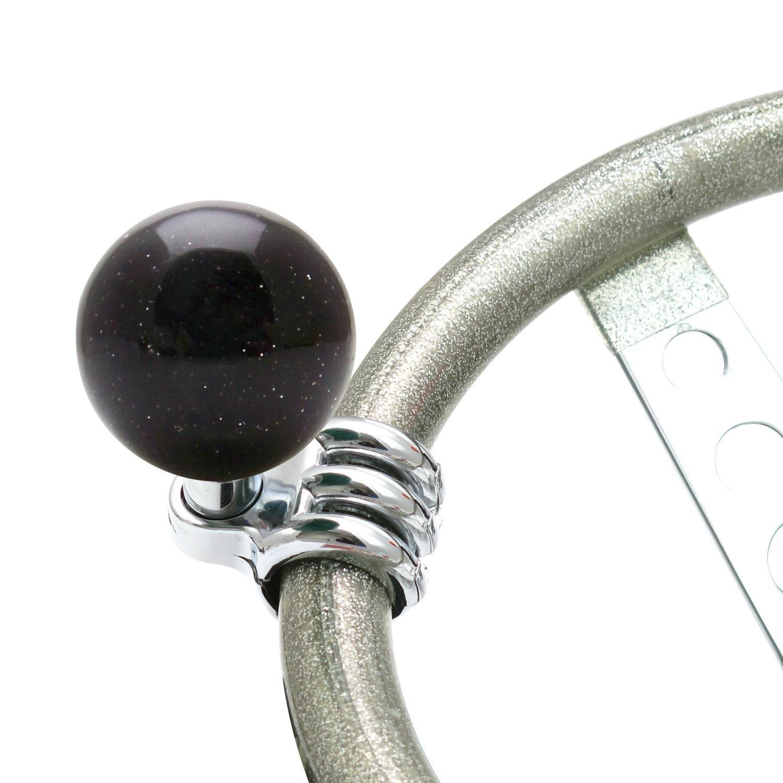 American Shifter 16056 Old Skool Series Black Custom Brody Knob Translucent with Metal Flake
