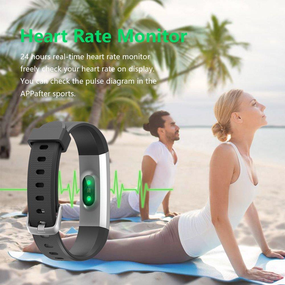 Lintelek Fitness Tracker Slim Activity Tracker With Heart