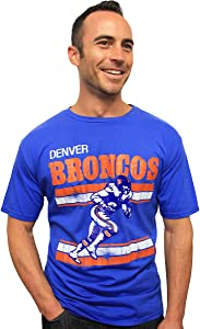 NFL Denver Broncos Vintage Crackle Short Sleeve Crew Tee Men's