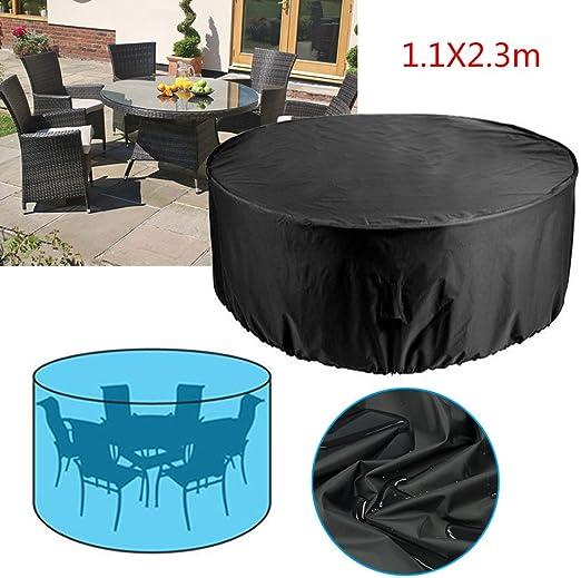 Rayinblue Funda impermeable para muebles de jardín, para conjunto de 4-6 plazas: Amazon.es: Jardín