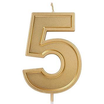 Amazon.com: Velas de cumpleaños LUTER de 3.94 pulgadas, de ...