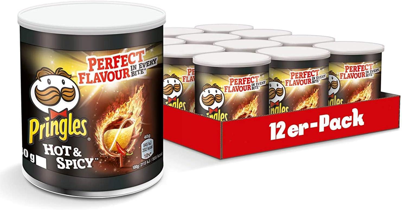 Pringles Hot y Spicy, 12 unidades (12 x 40 g): Amazon.es ...