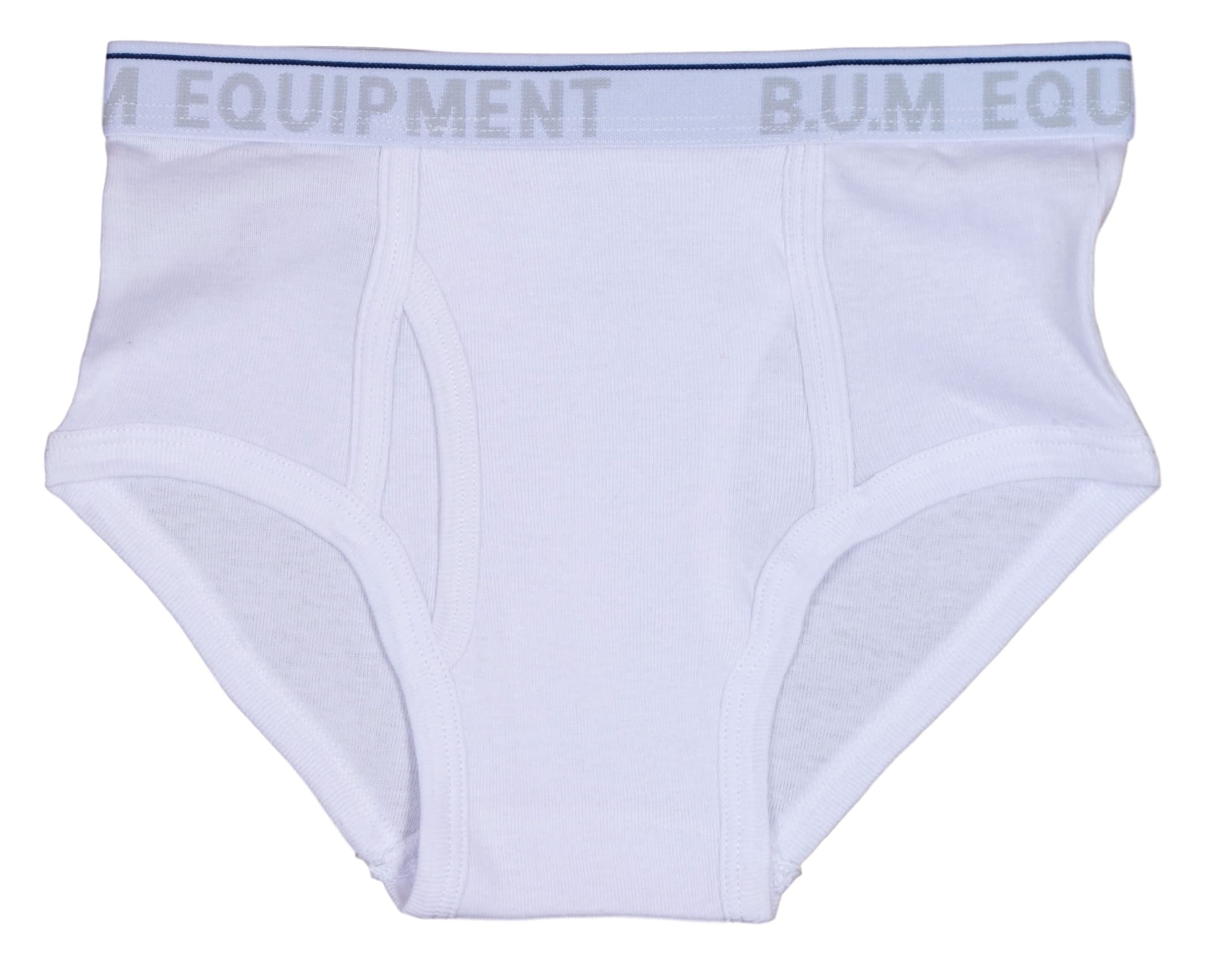 B.U.M. Equipment Boys 6 Pack Solid Underwear Briefs, Solids and Stripes, Navy/White/Grey, X-Small/4-5 by B.U.M. Equipment (Image #3)