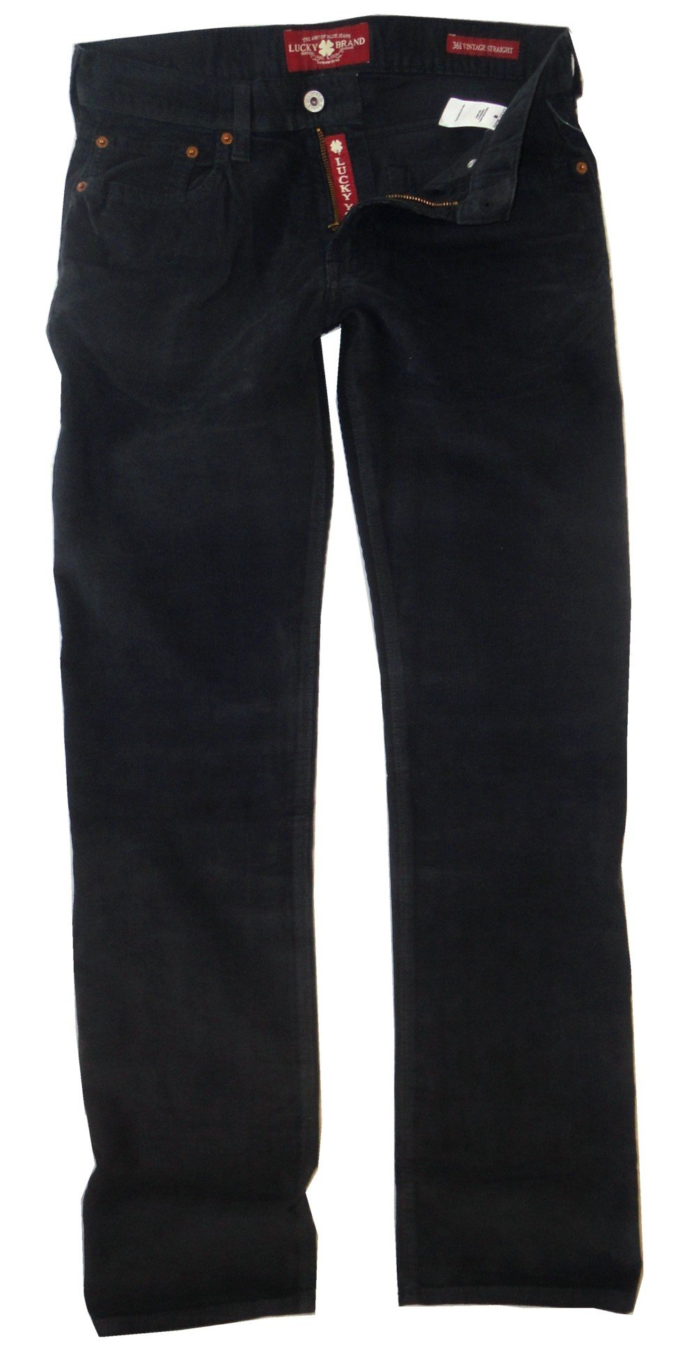 LUCKY BRAND BLUE 361 VINTAGE STRAIGHT FIT CORDUROY FLAT FRONT 5 PKT PANTS MEN (34x34) by Lucky Brand (Image #1)