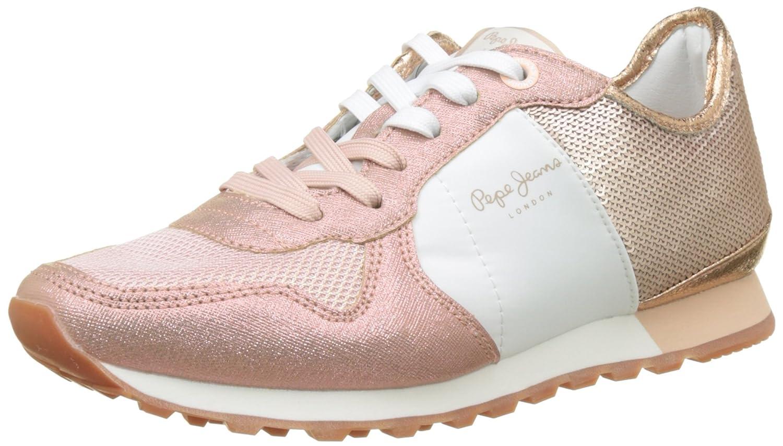 Pepe Jeans Verona W Sequins, Scarpe da Ginnastica Basse Donna Rosa (Factory Pink)