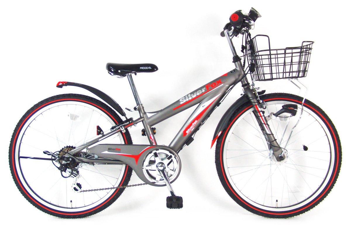 C.Dream(シードリーム) シルバーフォックスEX SF26-EX 22インチ 子供自転車 グレー 100%組立済み発送 B078YR96SX