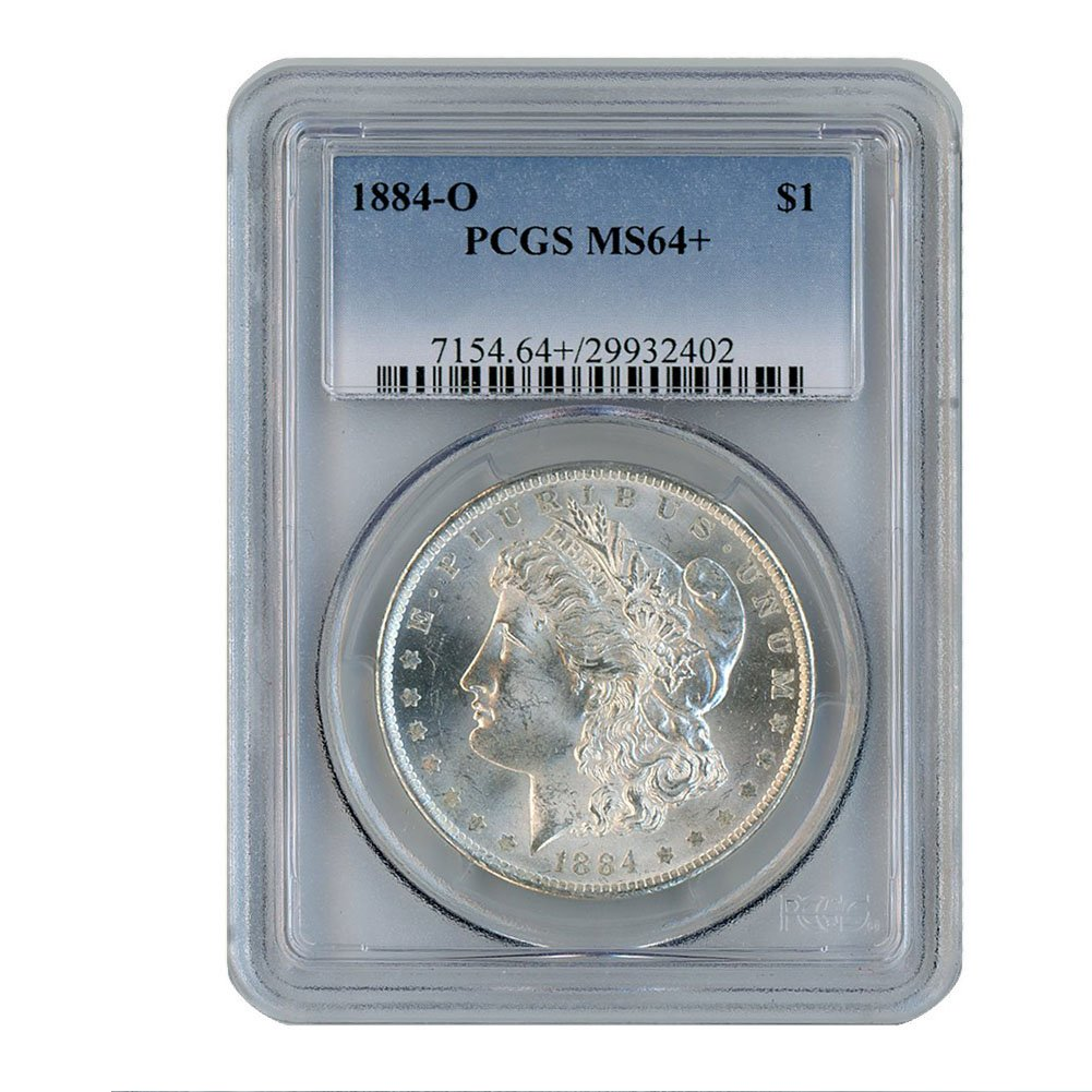 PCGS MS63 1884 US Morgan Silver Dollar $1