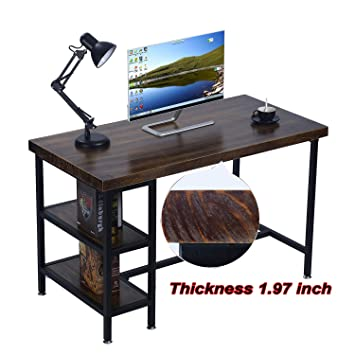 Good Environmentally Solid Wood Office Desk Industrial 47u0026quot; Large Size Office  Workstations Computer Writing Tables Furniture