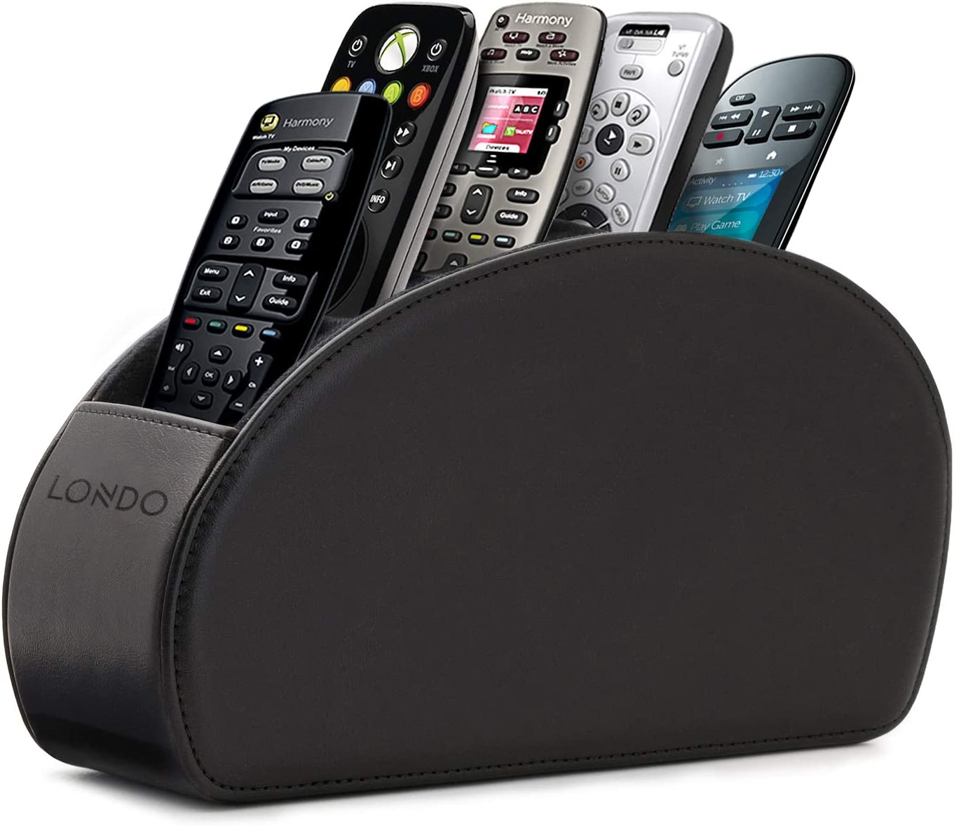 PU Leather Remote control//controller TV Guide//mail//CD organizer//holder Black Style YABO071