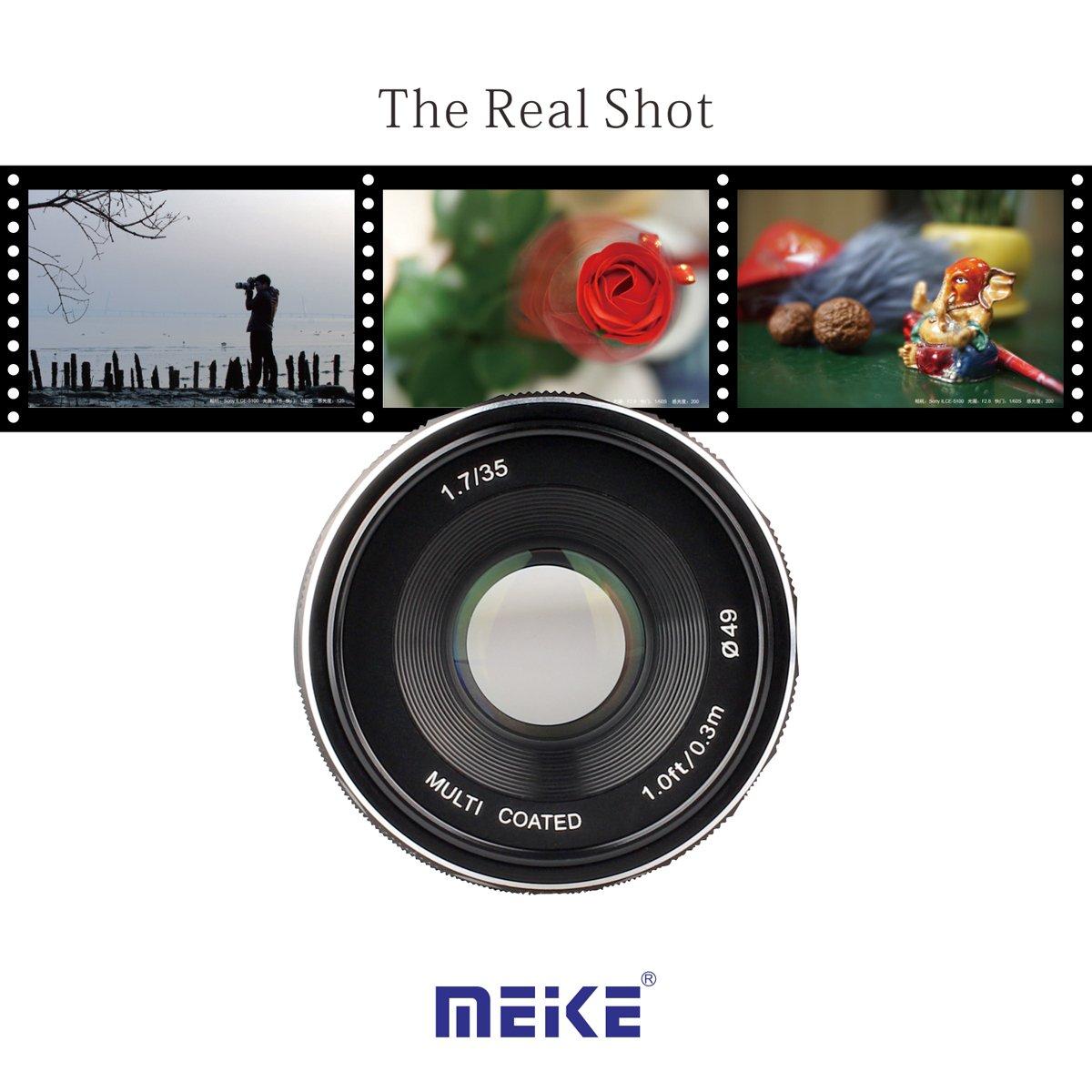Meike/ apertura manual M4//3 MFT para c/ámara sin espejo /Lente de enfoque grande 35/mm