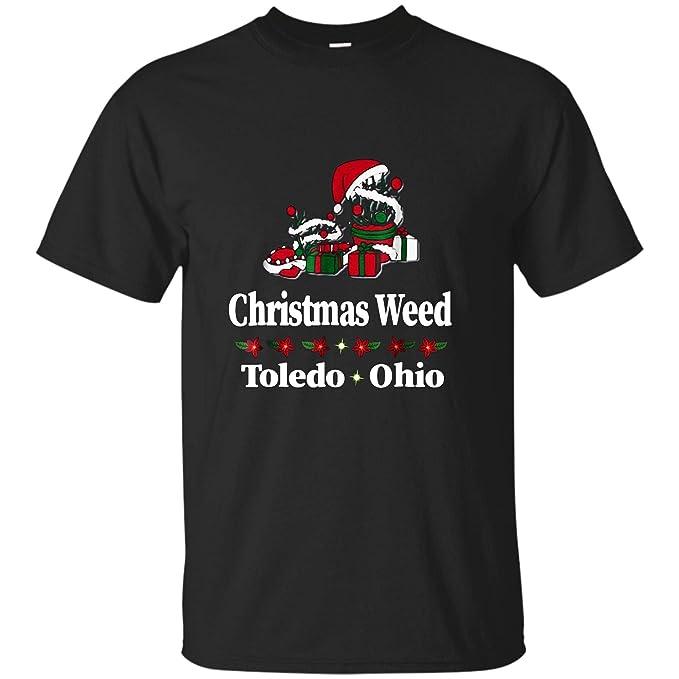 Toledo Christmas Weed.Amazon Com Unywin Toledo Ohio Christmas Weed T Shirt Clothing