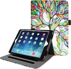Fintie Case for iPad Mini/Mini 2 / Mini 3 [Corner Protection] - [Multi-Angle Viewing] Folio Smart Stand Protective Cover with Pocket, Auto Sleep/Wake for iPad Mini 1 / Mini 2 / Mini 3, Love Tree