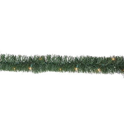 18 Pre Lit Green Pine Artificial Christmas Garland 50 Clear Lights By Hofert