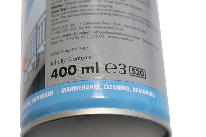 Limpiador para acero inoxidable Würth saBesto spray 400 ml: Amazon ...