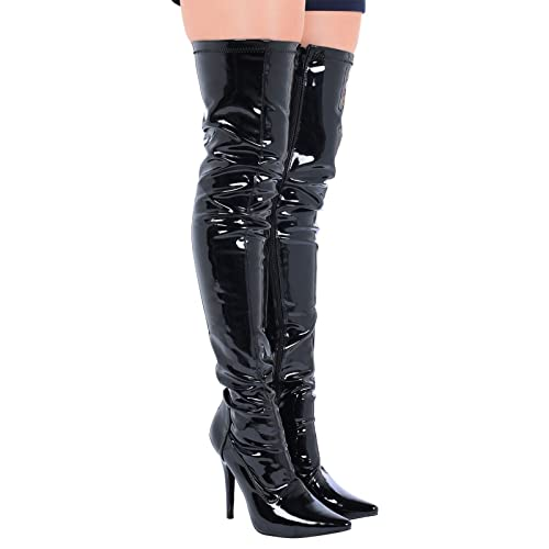 7aa0880fe353 BS12051-W) - New Womens Ladies Sexy Thigh HIGH Kinky Fetish Over The ...
