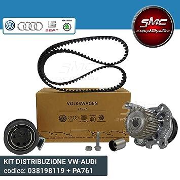 Kit distribución completo original Grupo Vag OEM + Bomba Agua Graf (038198119 a + pa761): Amazon.es: Coche y moto
