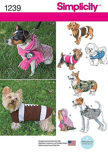 Amazon Simplicity Creative Patterns 60 Dog Coats In Three Extraordinary Dog Jacket Pattern