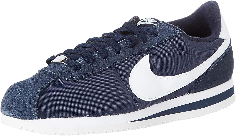 relé Automático levantar  Nike Cortez Basic Nylon, Zapatillas de Deporte para Hombre, Multicolor  (Obsidian/White/Metallic Silver 411), 40 EU: Amazon.es: Zapatos y  complementos