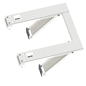Qualward Air Conditioner Bracket Window AC Support Brackets - Heavy Duty with 2 Arms, Up to 180 lbs for 12000 to 24000 BTU AC Units