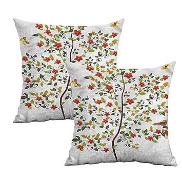 Amazon.com: Khaki Home Nature - Funda de almohada cuadrada ...