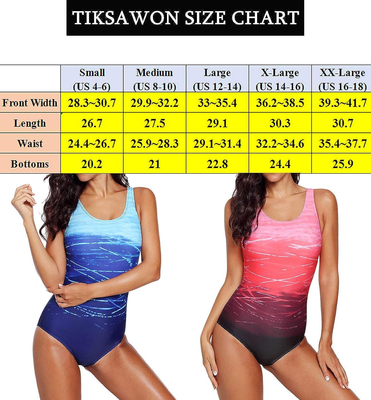 1189a73fff Tiksawon Retro Swimsuit Women's Printed Vintage Swimwear Tummy Control  Swimsuit Push Up One Piece Bathing Suit at Amazon Women's Clothing store: