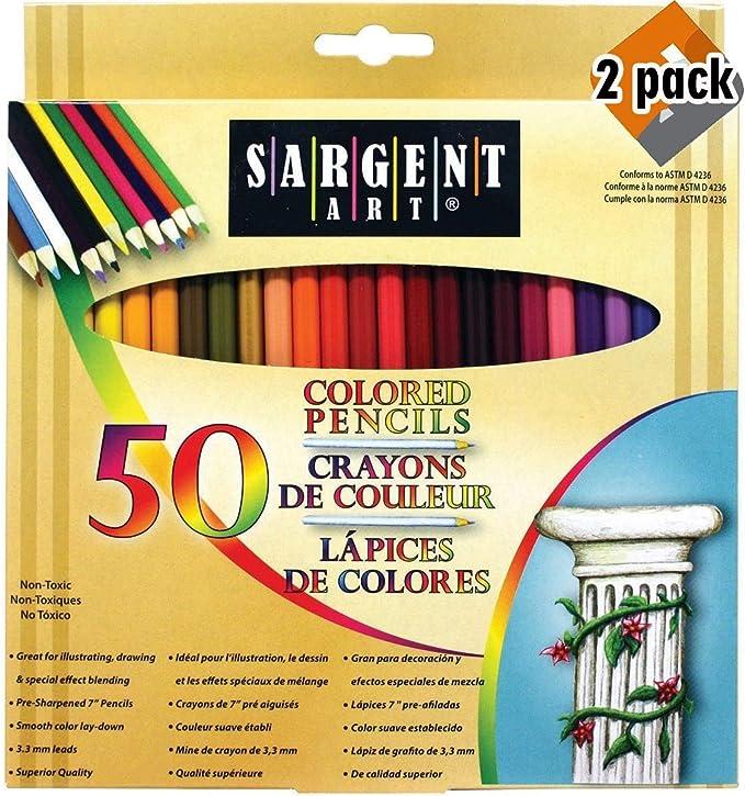Sargent Art Premium Coloring Pencils Pack of 52 Assorted Colors and Metallics 22-7294