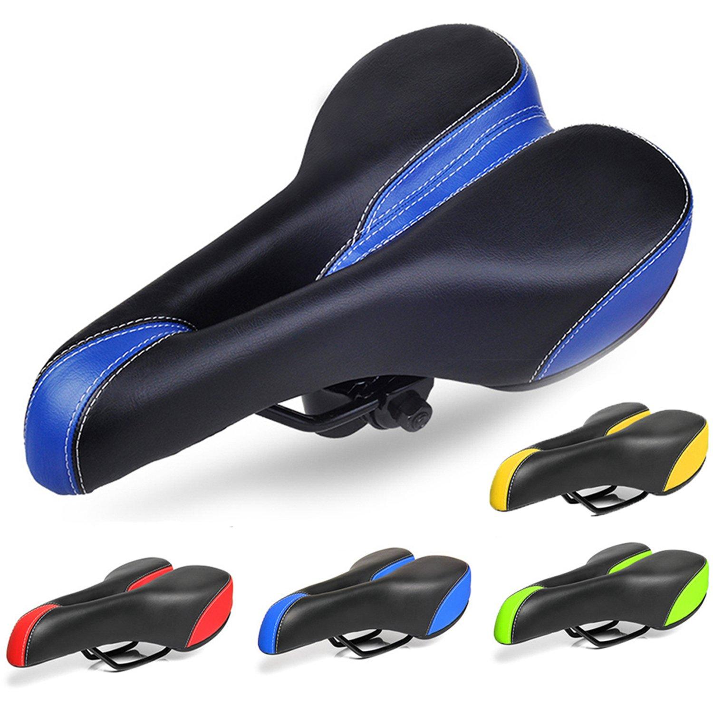 aolander最も快適自転車サドルforメンズレディース – 解剖学的リリーフ自転車サドルfor Exercise、インドアサイクリング、交換用バイクシートfor MTB、道路、touring-suspension Racing and Else自転車 B073GZ5MF5 ブルー ブルー