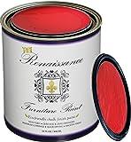 Renaissance Chalk Furniture & Cabinet Paint Qt - Superior Coverage, Non Toxic, Eco-Friendly - Vermilion (32oz)
