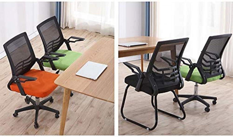 Skrivbordsstolar kontorsstol orange/grön/blå konstgjord datorstol hem komfort stol kontor (färg: Grön) Orange
