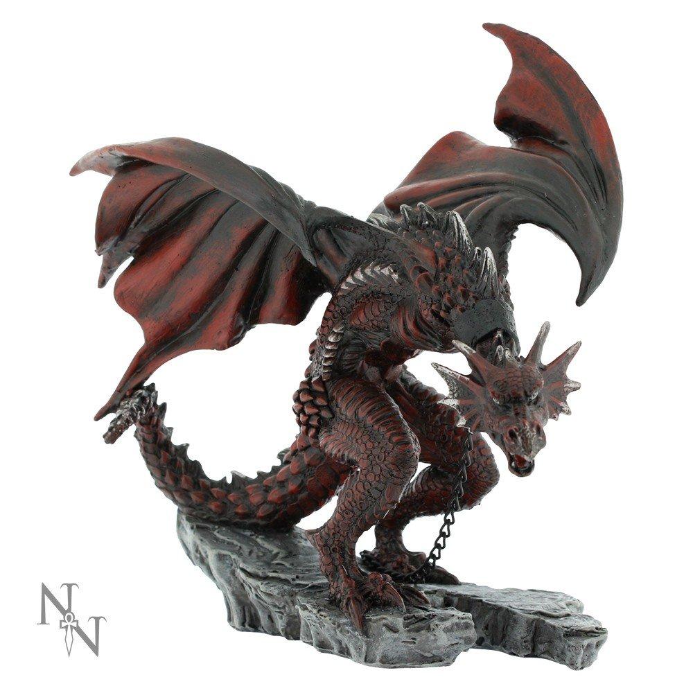 Nemesis Now Golnar Chained Dragone Rosso 21cm decorazione figurine statua Alator Gamma