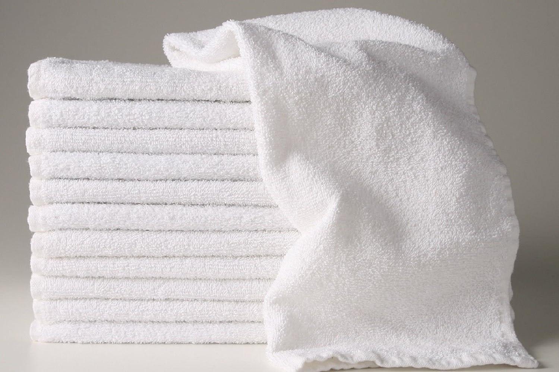6 new white 22x44 100/% cotton terry bath towels salon//gym 6# dozen economy