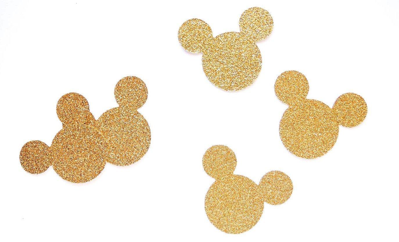 Konfetti Mickey Maus Gold- Dekoration Party Geburtstag Micky Maus(handgemacht Konfetti)