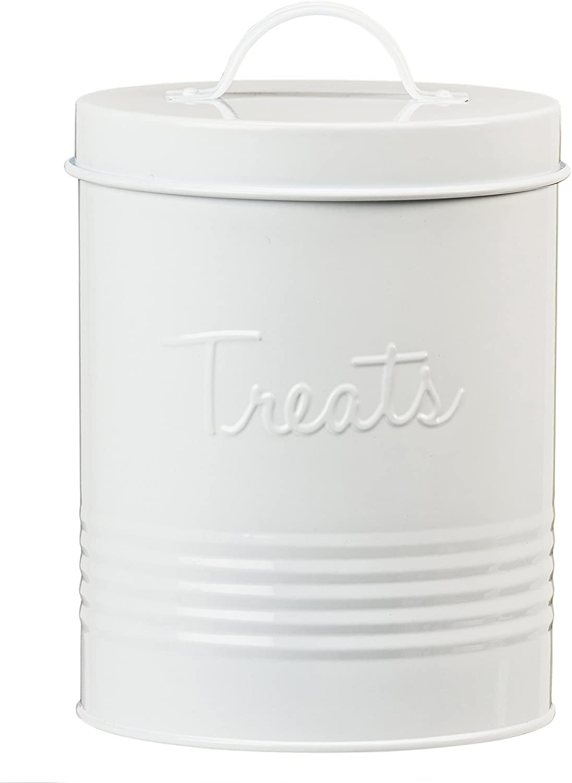 Amici Home Retro Treats White Canister, White-72, Large/72 oz