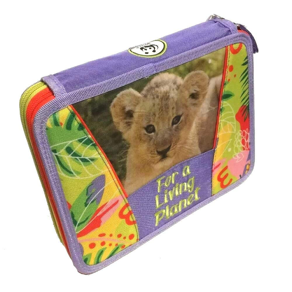 Estuche escolar WWF Jungle para niña Maxi 2 pisos Girl Zip ...