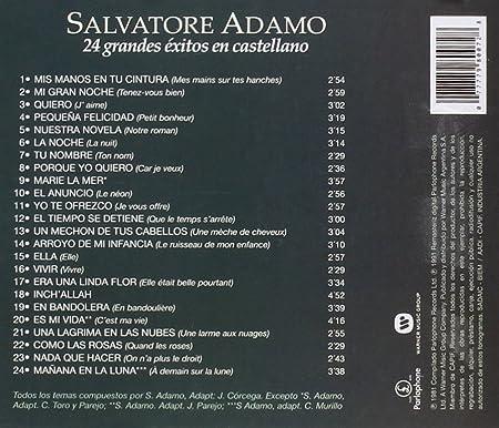 24 Grandes Exitos Castellano Salvatore Adamo Amazon De Musik Cds Vinyl