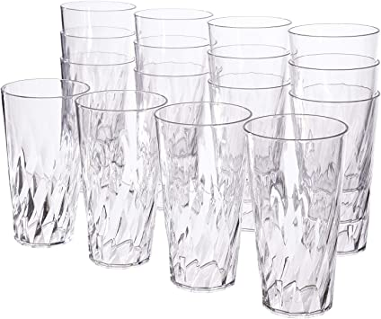 28-ounce Multi Color Plastic Cup TumblersSet of 8 in 4 Assorted Splash Colors