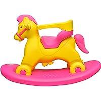 Toyshine 2 in 1 Marshal Horse Rocker Cum Ride-on Horse Rocking Toy, ABS Plastic, 2-5 Years, Pink