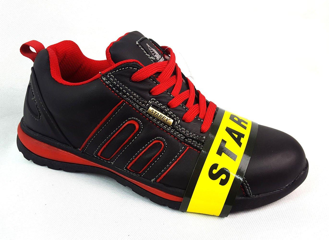 Black//Black SAFETY TRAINERS WORK STEEL TOE CAP B883 UK6