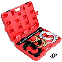 Goplus MacPherson Interchangable Fork Strut Coil Spring Compressor Extractor Tool Set