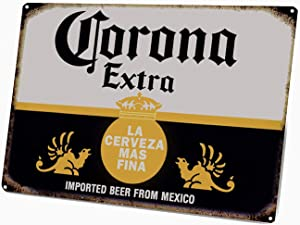 ICRAEZY Party Bar Vintage Metal Sign,Corona Beer from Mexico, Home Bar Man Cave Decor, 8