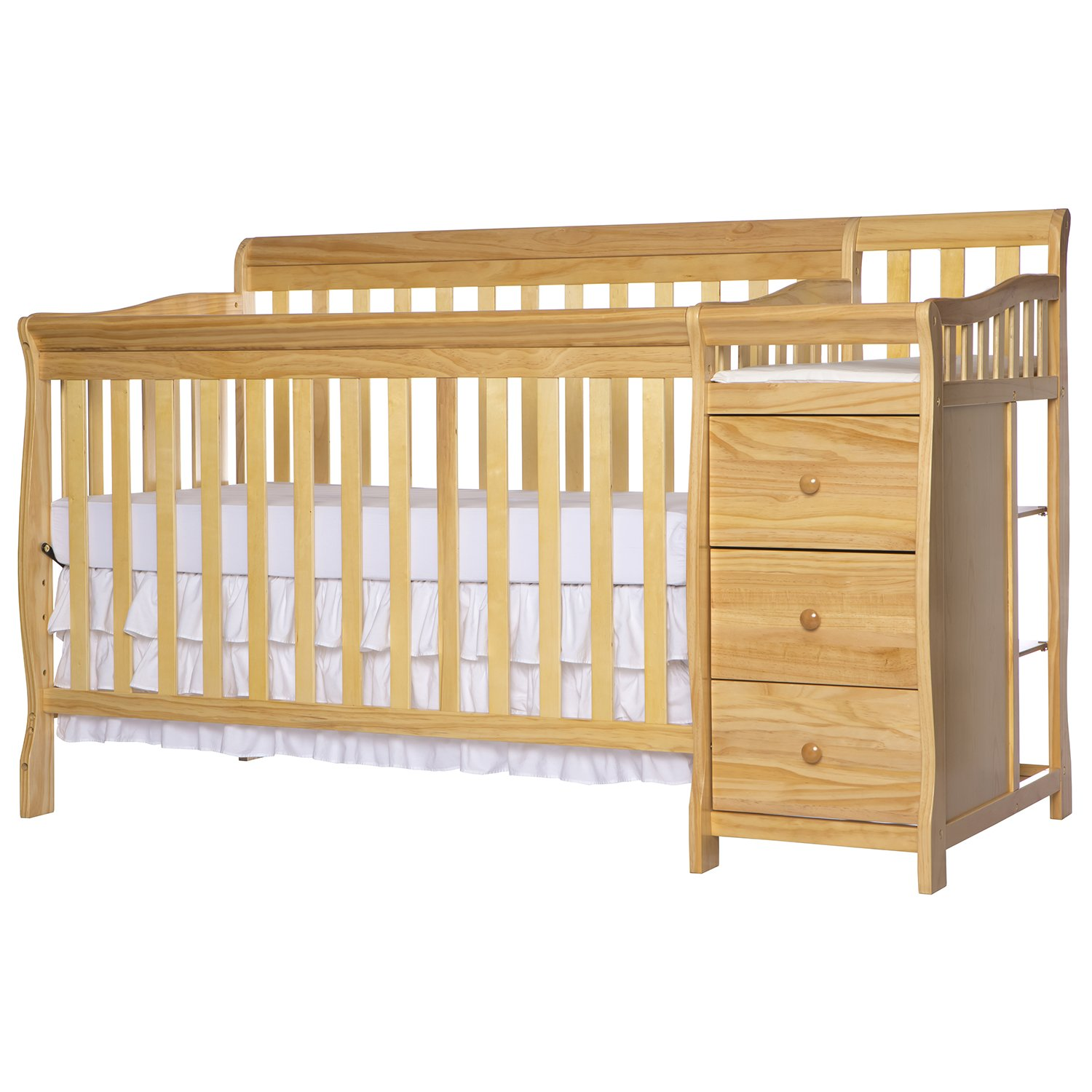 Dream On Me 5 in 1 Brody Convertible Crib with Changer, Natural by Dream On Me (Image #3)