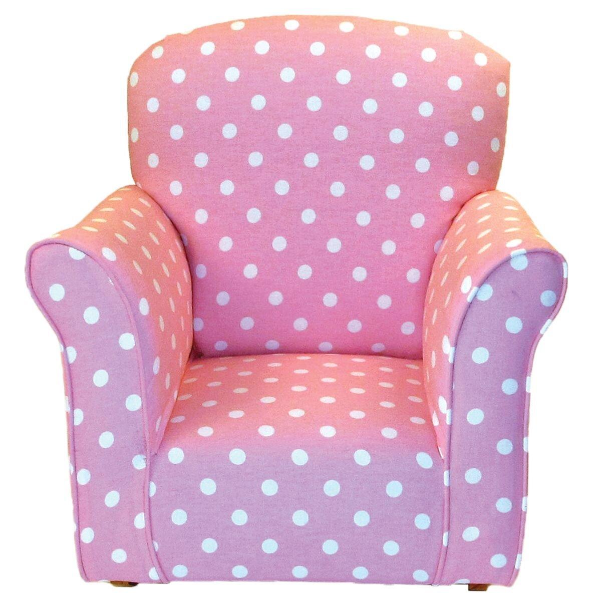 Brighton Home Furniture Pink with White Polka Dots Toddler Rocker - Cotton Rocking Chair