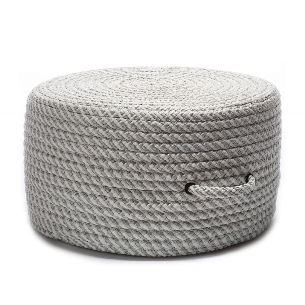 Colonial Mills Braided Round pouf/ottoman 20''x20''x11'' in Shadow Color From Bright Twist Pouf Collection