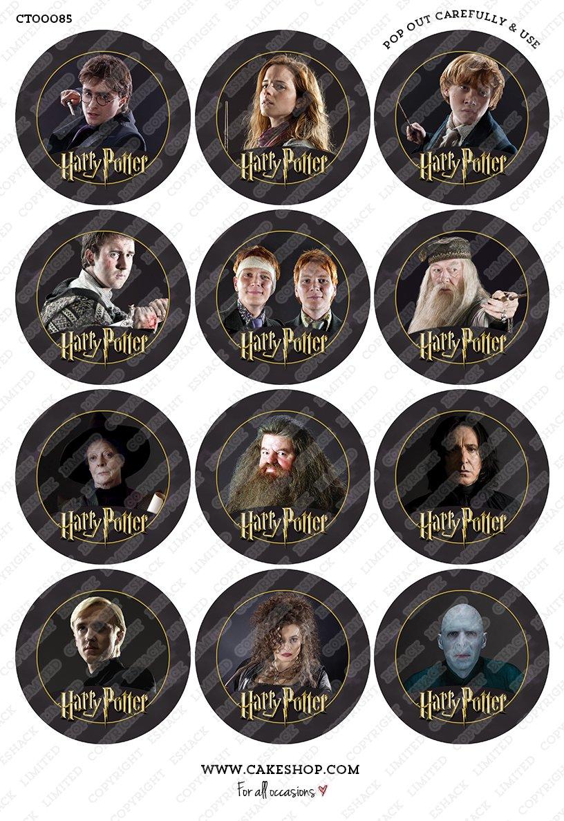 12 × Décorations Cakeshop comestibles PRÉ-DÉCOUPÉES Harry Potter