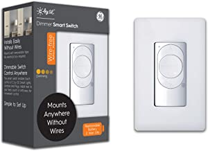 C by GE Wire-Free Dimmer Smart Switch, Bluetooth, Battery Powered Smart Switch, Removable, White, 1-Pack