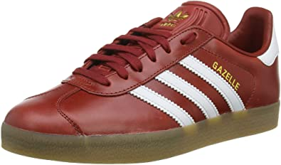 biología Jugar juegos de computadora Agotar  Amazon.com | adidas Originals Women's Gazelle Trainers Mystery US5 Red |  Fashion Sneakers